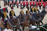 Trooping the Colour 2012: The King's Troop Royal Horse Artillery during the Ride Past.. Horse Guards Parade, Westminster, London SW1,  United Kingdom, on 16 June 2012 at 11:59, image #584