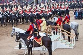 Trooping the Colour 2012: Watching the Ride Past - HRH The Princess Royal, HRH The Duke of Kent, HRH Prince Philip, HM The Queen, HRH The Prince of Wales, and HRH The Duke of Cambridge.. Horse Guards Parade, Westminster, London SW1,  United Kingdom, on 16 June 2012 at 12:00, image #598