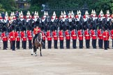 Trooping the Colour 2012: The Field Officer in Brigade Waiting, Lieutenant Colonel R C N Sergeant, Coldstream Guards, commaning, after the Ride Past.. Horse Guards Parade, Westminster, London SW1,  United Kingdom, on 16 June 2012 at 12:02, image #610
