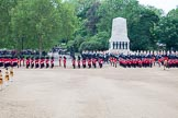 Trooping the Colour 2012: The guards formations hetting ready for the March Off, in the background St. James's Park.. Horse Guards Parade, Westminster, London SW1,  United Kingdom, on 16 June 2012 at 12:06, image #627