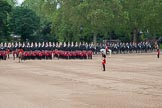 Trooping the Colour 2012: The Household Cavalry is starting to leave, here The Blues and Royals are riding towards the access road to The Mall.. Horse Guards Parade, Westminster, London SW1,  United Kingdom, on 16 June 2012 at 12:06, image #628