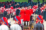 Trooping the Colour 2012: The March Off - the Massed Bands are leaving Horse Guards Parade towards The Mall, followed by HM The Queen in the Glass Coach. Behind them the Royal Colonels - HRH The Duke of Kent, HRH The The of Cambridge, and on the right HRH The Prince of Wales.. Horse Guards Parade, Westminster, London SW1,  United Kingdom, on 16 June 2012 at 12:12, image #676