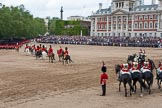 Trooping the Colour 2012: The March Off -  behind all the guardsmen a part of the Royal Procession.. Horse Guards Parade, Westminster, London SW1,  United Kingdom, on 16 June 2012 at 12:13, image #685