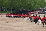 Trooping the Colour 2012: The March Off -  behind all the guardsmen a part of the Royal Procession.. Horse Guards Parade, Westminster, London SW1,  United Kingdom, on 16 June 2012 at 12:13, image #686
