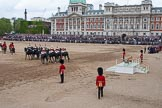 Trooping the Colour 2012: The March Off -  behind all the guardsmen a part of the Royal Procession.. Horse Guards Parade, Westminster, London SW1,  United Kingdom, on 16 June 2012 at 12:13, image #687