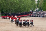 Trooping the Colour 2012: The March Off -  behind all the guardsmen a part of the Royal Procession.. Horse Guards Parade, Westminster, London SW1,  United Kingdom, on 16 June 2012 at 12:14, image #690