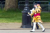 The Colonel's Review 2013: Senior Drum Major Matthew Betts, Grenadier Guards, leading the Band of the Coldstream Guards.. Horse Guards Parade, Westminster, London SW1,  United Kingdom, on 08 June 2013 at 10:13, image #42