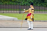 The Colonel's Review 2013: Senior Drum Major Matthew Betts, Grenadier Guards, leading the Band of the Coldstream Guards.. Horse Guards Parade, Westminster, London SW1,  United Kingdom, on 08 June 2013 at 10:13, image #44