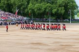 The Colonel's Review 2013: Senior Drum Major Matthew Betts, Grenadier Guards, leading the Band of the Coldstream Guards.. Horse Guards Parade, Westminster, London SW1,  United Kingdom, on 08 June 2013 at 10:14, image #51