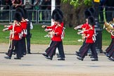 The Colonel's Review 2013: Musicians of the Band of the Scots Guards marching on Horse Guards Road.. Horse Guards Parade, Westminster, London SW1,  United Kingdom, on 08 June 2013 at 10:25, image #91
