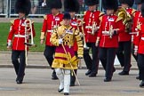 The Colonel's Review 2013: Drum Major Stephen Staite, Grenadier Guards, leading the Band of the Scots Guards onto Horse Guards Parade.. Horse Guards Parade, Westminster, London SW1,  United Kingdom, on 08 June 2013 at 10:25, image #92