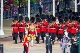 The Colonel's Review 2013: Drum Major D P Thomas, Grenadier Guards, leading the Band of the Grenadier Guards onto Horse Guards Parade.. Horse Guards Parade, Westminster, London SW1,  United Kingdom, on 08 June 2013 at 10:26, image #96