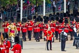 The Colonel's Review 2013: Drum Major D P Thomas, Grenadier Guards, leading the Band of the Grenadier Guards onto Horse Guards Parade.. Horse Guards Parade, Westminster, London SW1,  United Kingdom, on 08 June 2013 at 10:26, image #97