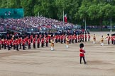 The Colonel's Review 2013: The Band of the Welsh Guards, led by Drum Major Neill Lawman, marches into position next to the other bands.. Horse Guards Parade, Westminster, London SW1,  United Kingdom, on 08 June 2013 at 10:32, image #136