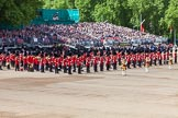 The Colonel's Review 2013: The Massed Bands on the western side of Horse Guards parade - three of the five bands are now in place.. Horse Guards Parade, Westminster, London SW1,  United Kingdom, on 08 June 2013 at 10:34, image #161