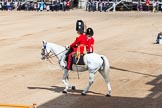 The Colonel's Review 2013: The Adjutant of the Parade, Captain C J P Davies, Welsh Guards.. Horse Guards Parade, Westminster, London SW1,  United Kingdom, on 08 June 2013 at 10:35, image #162