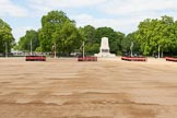 The Colonel's Review 2013: All six guards reposition to form a single, long, L-shaped line.. Horse Guards Parade, Westminster, London SW1,  United Kingdom, on 08 June 2013 at 10:36, image #165