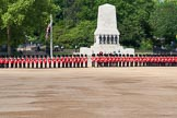 The Colonel's Review 2013: All six guards reposition to form a single, long, L-shaped line.. Horse Guards Parade, Westminster, London SW1,  United Kingdom, on 08 June 2013 at 10:36, image #168