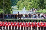 The Colonel's Review 2013: The King's Troop Royal Horse Artillery arrives, and will take position between No. 1 Guard and St. James's Park.. Horse Guards Parade, Westminster, London SW1,  United Kingdom, on 08 June 2013 at 10:38, image #177
