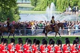 The Colonel's Review 2013: The King's Troop Royal Horse Artillery arrives, and will take position between No. 1 Guard and St. James's Park.. Horse Guards Parade, Westminster, London SW1,  United Kingdom, on 08 June 2013 at 10:38, image #178