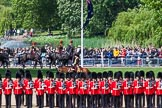 The Colonel's Review 2013: The King's Troop Royal Horse Artillery arrives, and will take position between No. 1 Guard and St. James's Park.. Horse Guards Parade, Westminster, London SW1,  United Kingdom, on 08 June 2013 at 10:38, image #182