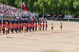 The Colonel's Review 2013: The Massed Bands are ready and in position, with the five Drum Majors in front.. Horse Guards Parade, Westminster, London SW1,  United Kingdom, on 08 June 2013 at 10:39, image #183