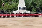 The Colonel's Review 2013: Welsh Guards standing in front of the Guards Memorial.. Horse Guards Parade, Westminster, London SW1,  United Kingdom, on 08 June 2013 at 10:39, image #184