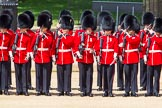 The Colonel's Review 2013: No. 2 Guard, 1 st Battalion Welsh Guards are mounting their bayonets.. Horse Guards Parade, Westminster, London SW1,  United Kingdom, on 08 June 2013 at 10:43, image #206