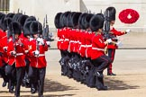 The Colonel's Review 2013: No. 3 Guard, 1st Battalion Welsh Guards, at the gap in the line for members of the Royal Family.. Horse Guards Parade, Westminster, London SW1,  United Kingdom, on 08 June 2013 at 10:50, image #217