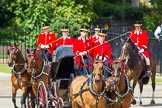 The Colonel's Review 2013: The three carriages with members of the Royal Family are turning from Horse Guards Road onto Horse Guards Parade on their way to Horse Guards Building.. Horse Guards Parade, Westminster, London SW1,  United Kingdom, on 08 June 2013 at 10:50, image #223