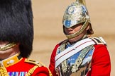 The Colonel's Review 2013: The Trooper of The Life Guards, following the Brigade Major at the head of the Royal Procession.. Horse Guards Parade, Westminster, London SW1,  United Kingdom, on 08 June 2013 at 10:57, image #260
