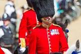 The Colonel's Review 2013: Foot Guards Regimental Adjutant Major G V A Baker, Grenadier Guards, during the Inspection of the Line.. Horse Guards Parade, Westminster, London SW1,  United Kingdom, on 08 June 2013 at 11:02, image #327