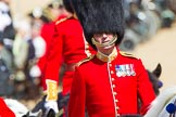 The Colonel's Review 2013: Foot Guards Regimental Adjutant Major G V A Baker, Grenadier Guards, during the Inspection of the Line.. Horse Guards Parade, Westminster, London SW1,  United Kingdom, on 08 June 2013 at 11:02, image #328