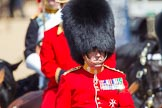 The Colonel's Review 2013: Foot Guards Regimental Adjutant Colonel T C R B Purdon, Irish Guards, during the Inspection of the Line.. Horse Guards Parade, Westminster, London SW1,  United Kingdom, on 08 June 2013 at 11:02, image #330