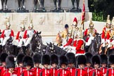 The Colonel's Review 2013: The Four Troopers of The Life Guards during the Inspection of the Line.. Horse Guards Parade, Westminster, London SW1,  United Kingdom, on 08 June 2013 at 11:04, image #371