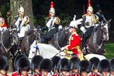The Colonel's Review 2013: Major General Commanding the Household Division and General Officer Commanding London District, Major George Norton, during the Inspection of the Line.. Horse Guards Parade, Westminster, London SW1,  United Kingdom, on 08 June 2013 at 11:05, image #376