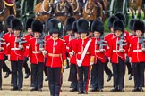 The Colonel's Review 2013: Captain F O Lloyd-George gives the orders for No. 1 Guard (Escort for the Colour),1st Battalion Welsh Guards to move into close order.. Horse Guards Parade, Westminster, London SW1,  United Kingdom, on 08 June 2013 at 11:15, image #481