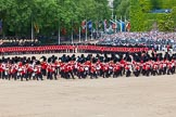 "The Colonel's Review 2013: The Massed Bands playing ""The British Grenadiers"" whilst No. 1 Guard is on the move.. Horse Guards Parade, Westminster, London SW1,  United Kingdom, on 08 June 2013 at 11:16, image #483"