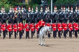 The Colonel's Review 2013: The Field Officer in Brigade Waiting, Lieutenant Colonel Dino Bossi, Welsh Guards, calls the guards to attention.. Horse Guards Parade, Westminster, London SW1,  United Kingdom, on 08 June 2013 at 11:18, image #494