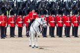 The Colonel's Review 2013: The Field Officer in Brigade Waiting, Lieutenant Colonel Dino Bossi, Welsh Guards, calls the guards to attention.. Horse Guards Parade, Westminster, London SW1,  United Kingdom, on 08 June 2013 at 11:18, image #495