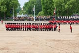The Colonel's Review 2013: The men of No. 1 Guard (Escort for the Colour),1st Battalion Welsh Guards have turned right and are about to form a new line.. Horse Guards Parade, Westminster, London SW1,  United Kingdom, on 08 June 2013 at 11:16, image #484