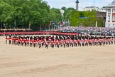 "The Colonel's Review 2013: The Massed Bands playing ""The British Grenadiers"" whilst No. 1 Guard is on the move.. Horse Guards Parade, Westminster, London SW1,  United Kingdom, on 08 June 2013 at 11:16, image #485"