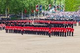 The Colonel's Review 2013: The Escort to the Colour is advancing in slow time.. Horse Guards Parade, Westminster, London SW1,  United Kingdom, on 08 June 2013 at 11:21, image #540