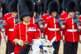 The Colonel's Review 2013: The Field Officer in Brigade Waiting, Lieutenant Colonel Dino Bossi, Welsh Guards gives the command to form divisions.. Horse Guards Parade, Westminster, London SW1,  United Kingdom, on 08 June 2013 at 11:27, image #591