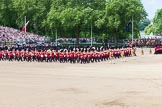 The Colonel's Review 2013: The Massed Bands, led by the five Drum Majors, during the March Past.. Horse Guards Parade, Westminster, London SW1,  United Kingdom, on 08 June 2013 at 11:30, image #606