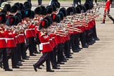 The Colonel's Review 2013: The Massed Bands, led by the five Drum Majors, during the March Past.. Horse Guards Parade, Westminster, London SW1,  United Kingdom, on 08 June 2013 at 11:30, image #610