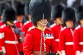 The Colonel's Review 2013: A close-up of the Field Officer in Brigade Waiting, Lieutenant Colonel Dino Bossi, Welsh Guards, with his word drawn, during the March Past.. Horse Guards Parade, Westminster, London SW1,  United Kingdom, on 08 June 2013 at 11:32, image #621