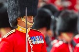 The Colonel's Review 2013: Major of the Parade, Major H G C Bettinson, Welsh Guards, leading the March Past.. Horse Guards Parade, Westminster, London SW1,  United Kingdom, on 08 June 2013 at 11:33, image #624
