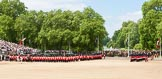 The Colonel's Review 2013: The Field Officer in Brigade Waiting, Lieutenant Colonel Dino Bossi, Welsh Guards, and the Major of the Parade, Major H G C Bettinson, Welsh Guards, leading the March Past.. Horse Guards Parade, Westminster, London SW1,  United Kingdom, on 08 June 2013 at 11:31, image #616