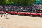The Colonel's Review 2013: The Field Officer in Brigade Waiting, Lieutenant Colonel Dino Bossi, Welsh Guards, and the Major of the Parade, Major H G C Bettinson, Welsh Guards, leading the March Past.. Horse Guards Parade, Westminster, London SW1,  United Kingdom, on 08 June 2013 at 11:32, image #620